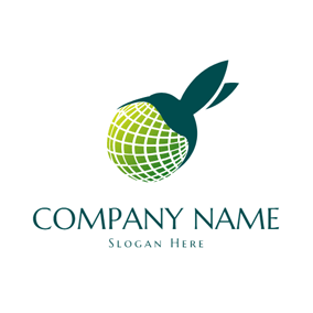 Sphere and Hummingbird Icon logo design