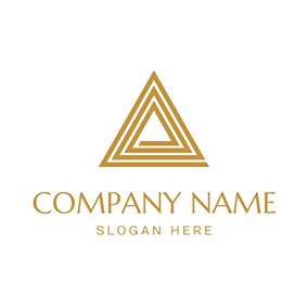 Spiral Yellow Triangle Combined Pyramid logo design