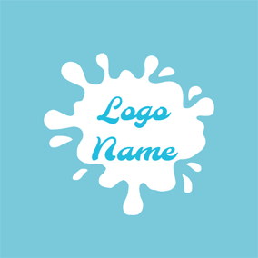 Splash Pure Milk Pattern logo design