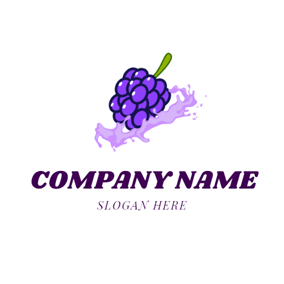 Splash Water and Mulberry logo design