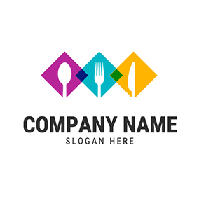 Spoon Fork and Knife logo design