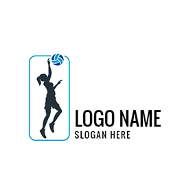 Sportswoman and Netball Icon logo design