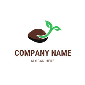 Sprout and Brown Seed logo design