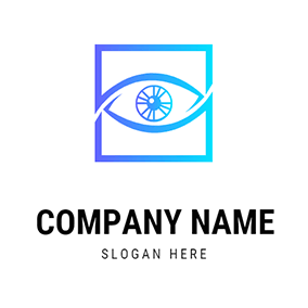 Square and Eye logo design
