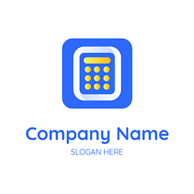 Square Calculator and Accounting logo design
