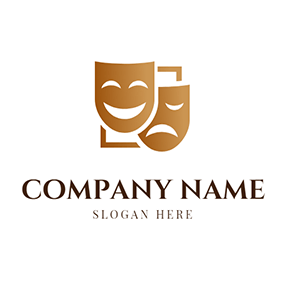 Square Facial Makeup Drama logo design