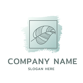 Square Leaf Pigment Watercolor logo design