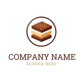 Square Shape and Brownie logo design