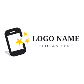 Star and Mobile Phone logo design