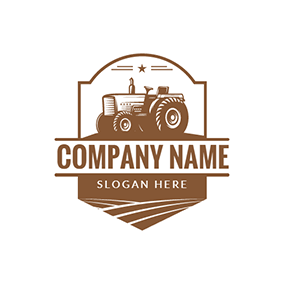 Star Combine Harvester logo design