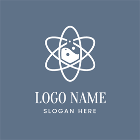 Star Shaped Structure and Chemistry logo design