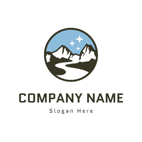 Starry Sky and Hill logo design
