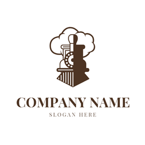Steam and Railway Head logo design