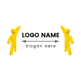Stereoscopic and Abstract Human logo design