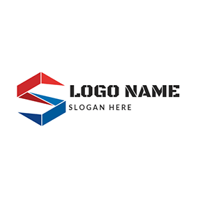 Stereoscopic Shape Letter S C logo design