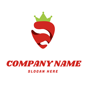 Strawberry With Crown logo design