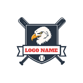 Strict Eagle Head and Black Badge logo design