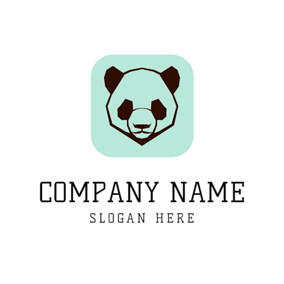 Strict Panda Face logo design