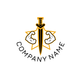 Strong Arm and Sword logo design
