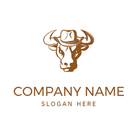 Strong Bull Hat Rodeo logo design
