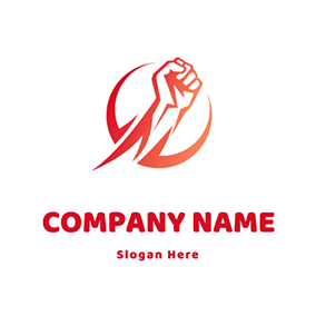 Strong Fist Punching logo design