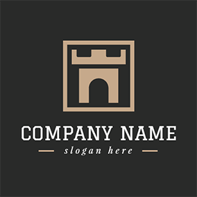 Strong Gate and Frame Icon logo design