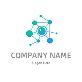 Structure Biology Eye Retina logo design