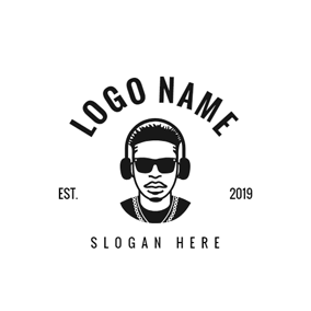 Sunglasses and Cool Rapper logo design