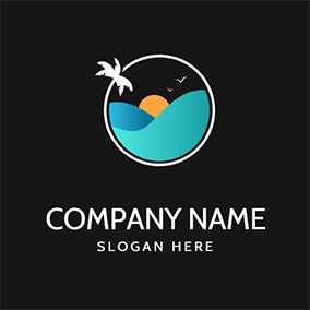 Sunset and Sea logo design
