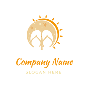 Sunshine and Slippers logo design
