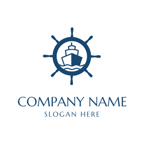 Super Sized Sailing Freighter logo design