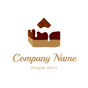 Sweet Milk and Brownie logo design
