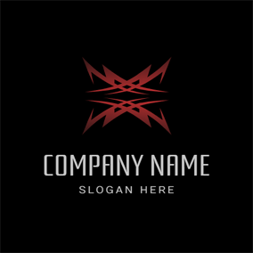 Symmetry Red Tribe Significant logo design