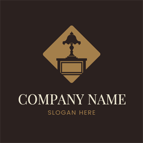 Table Lamp and Cabinet logo design