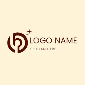 Target Circle Abstract Letter L P logo design