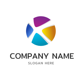 Technology and Colorful Ball logo design