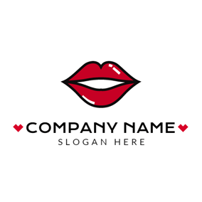 Tempting Red Lips logo design