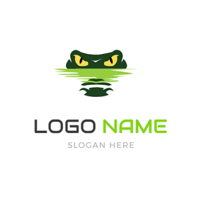 Terrible Alligator Head Icon logo design