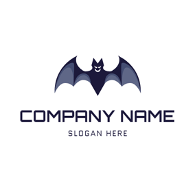 Terrible Black Bat Icon logo design