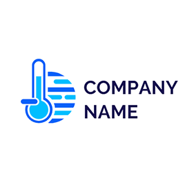 Thermometer Water Mercury logo design