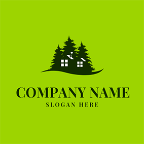 Thick Trees and Small House logo design