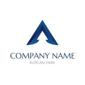 Three Dimensional Delta Sign logo design