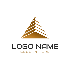 Three Dimensional Delta Symbol logo design