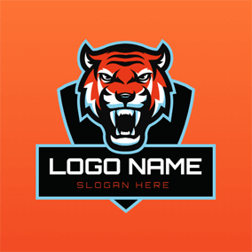 Tiger Head and Badge logo design