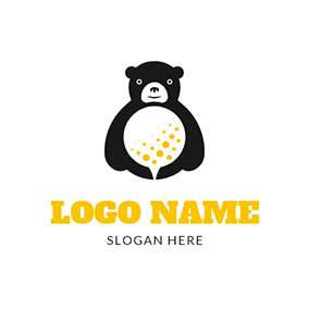 Toy Bear and White Golf logo design