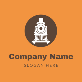 Traditional Railway Train logo design