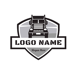 Trailer and Shield logo design