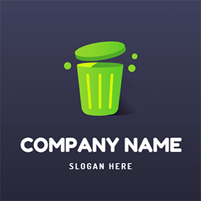 Trash Can logo design