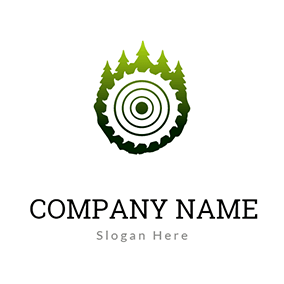 Tree and Annual Ring logo design