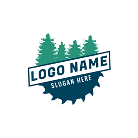 Tree and Gear logo design